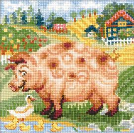 RIOLIS The Farm - Piglet Counted Cross Stitch Kit
