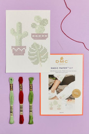 Cactus Collection Cross Stitch Magic Paper Kit by DMC