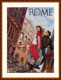 Visit Rome Counted Cross Stitch Kit By Merejka