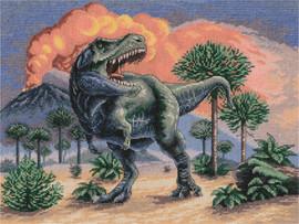 Tyrannosaurus Rex Counted Cross Stitch Kit by Panna