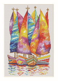 Under the Sails of Dreams Counted Cross Stitch Kit By VDV