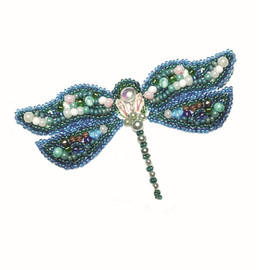 Dragonfly Brooch Beaded Embroidery Kit By VDV