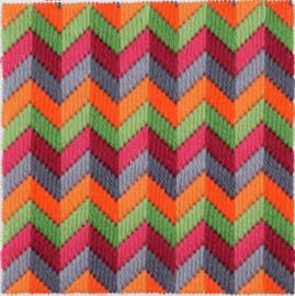 Chevron Bargello Tina Francis Starter Tapestry Kit by Anchor