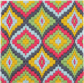 Persimmon Bargello Tina Francis Starter Tapestry Kit by Anchor