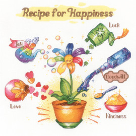 Recipe for Happiness Counted Cross Stitch Kit By Riolis