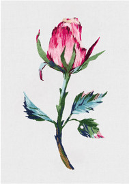 Pink Flower Bud Freestyle Embroidery Kit by Panna
