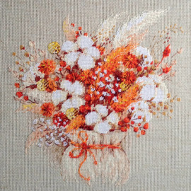 Lagurus and Cotton Counted Cross Stitch Kit by Riolis