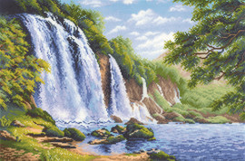 Noise of the Waterfall Counted Cross Stitch Kit by Riolis