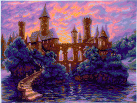 Mysterious Castle Counted Cross Stitch Kit by Riolis
