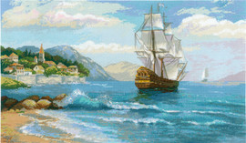 Distant Shores Counted Cross Stitch Kit by Riolis
