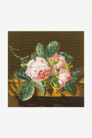 Roses on Silk Tapestry Canvas by DMC