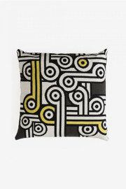 The Big Chill - Monochrome Jazz Giant Floor Cushion Tapestry by DMC
