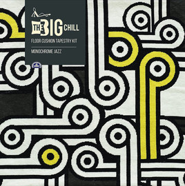 The Big Chill - Monochrome Jazz Giant Floor Cushion Tapestry Kit  by DMC