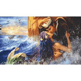 Mermaid Kiss Cross Stitch Kit by Letistitch