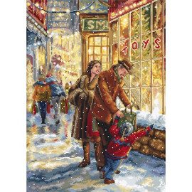 Christmas Expectation Cross Stitch Kit by Letistitch