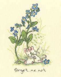 Forget me not Cross Stitch Kit by Bothy Threads