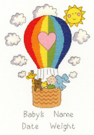 Balloon Baby Cross Stitch Kit by Bothy Threads