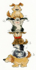 Top Dog Cross Stitch Kit by Bothy Threads