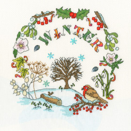 Winter Time Cross Stitch Kit by Bothy Threads