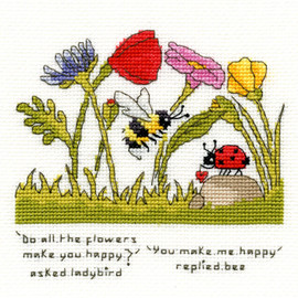 You Make Me Happy Cross Stitch Kit by Bothy Threads