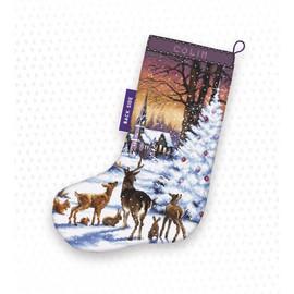 Christmas Wood Stocking Cross Stitch Kit by Artibalt