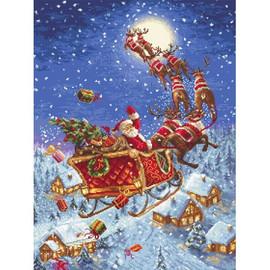 The Reindeer on Their Way Cross Stitch Kit by Artibalt
