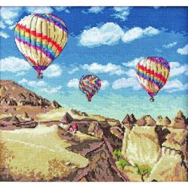 Balloons Over Grand Canyon Cross Stitch Kit by Artibalt