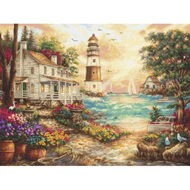 Cottage by the Sea Cross Stitch Kit