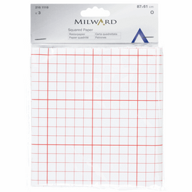 Dress makers Tracing Paper Squared 87 x 61cm 3 sheets per pack