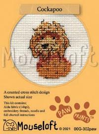 Cockapoo cross stitch kit by Mouse loft