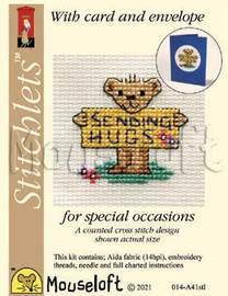 Sending Hugs cross stitch kit by Mouse Loft