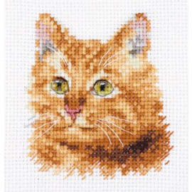 Ginger Cat cross stitch kit by Alisa