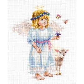 Angel cross stitch kit by Alisa