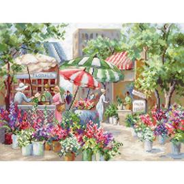 Flower Market Cross Stitch Kit by Letistitch