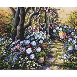 Wonderland Garden Cross Stitch Kit by Letistitch