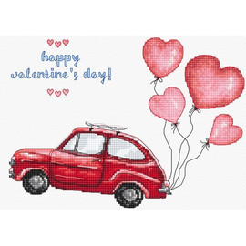 Happy Valentines Day Cross Stitch Kit by Artibalt