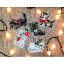 Christmas Kittens Toys Cross Stitch Kit by Artibalt