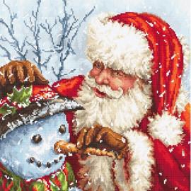 Santa Claus and Snowman Cross Stitch Kit by Artibalt