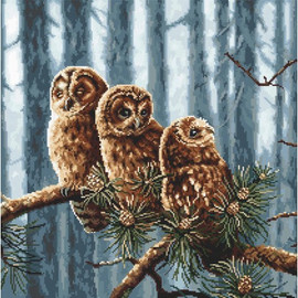 Owls Family Cross Stitch Kit by Letistitch
