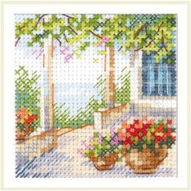 Flower Patio Cross Stitch Kit by Artibalt