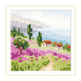 Lavender at the Sea Cross Stitch Kit by Artibalt
