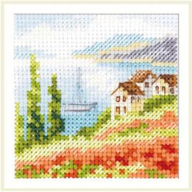 Poppies at the Sea Cross Stitch Kit by Artibalt