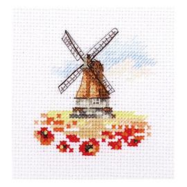 Windmill in a Poppy Field Cross Stitch Kit by Artibalt