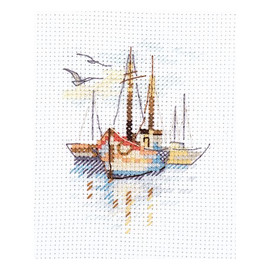 Boats at Dawn Cross Stitch Kit by Artibalt