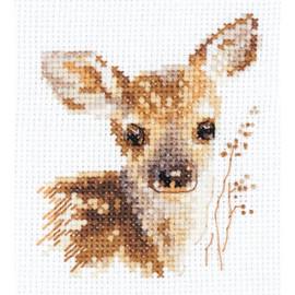 Animal Portraits. Fawn Cross Stitch Kit by Artibalt