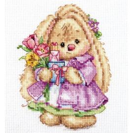 Rabbit Mi. Spring Cross Stitch Kit by Artibalt