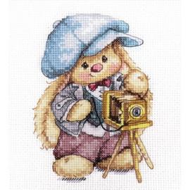 Rabbit Mi. Photographer Cross Stitch Kit by Artibalt