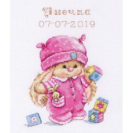 Rabbit Baby Girl Cross Stitch Kit By Artibalt