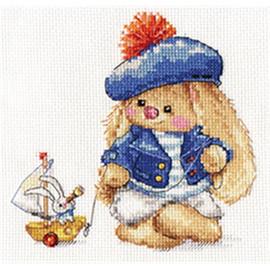 Rabbit Sailor Cross Stitch Kit By Artibalt