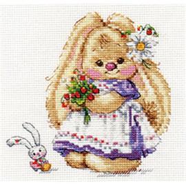 Rabbit Strawberry Cross Stitch Kit By Artibalt